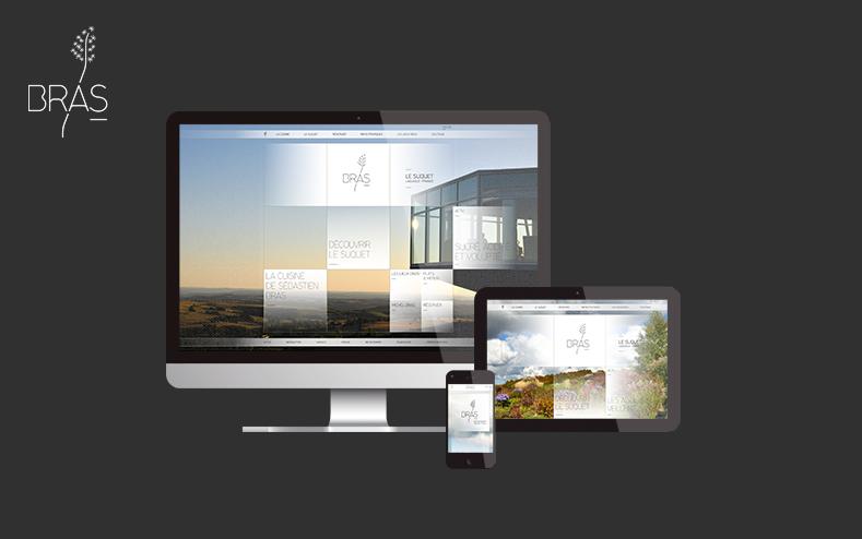 Création du site web de la maison Bras