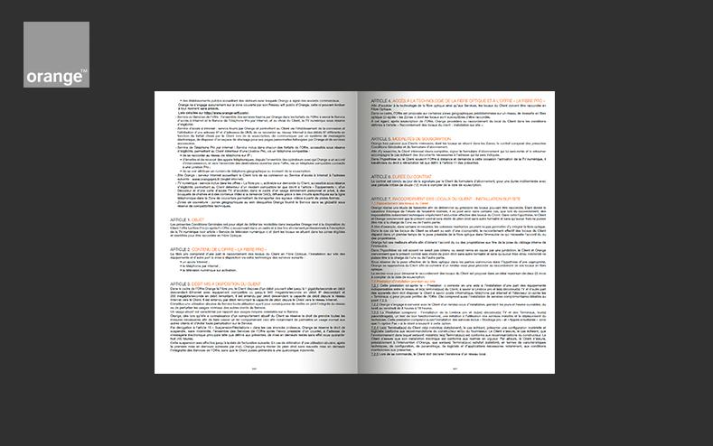 Composition des CGV pour Orange