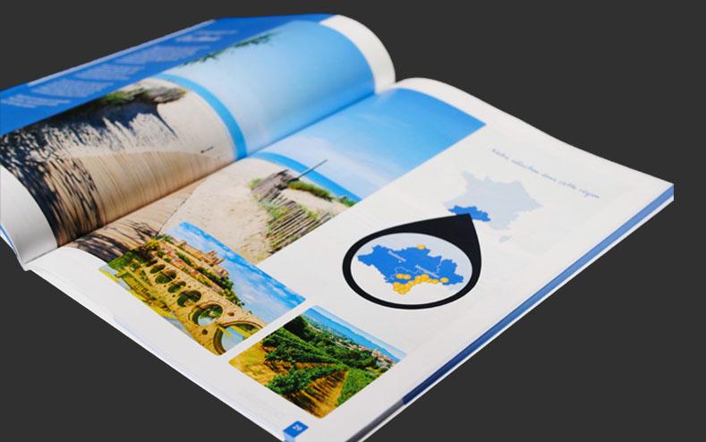 Détails d'un catalogue imprimé pour campings.com