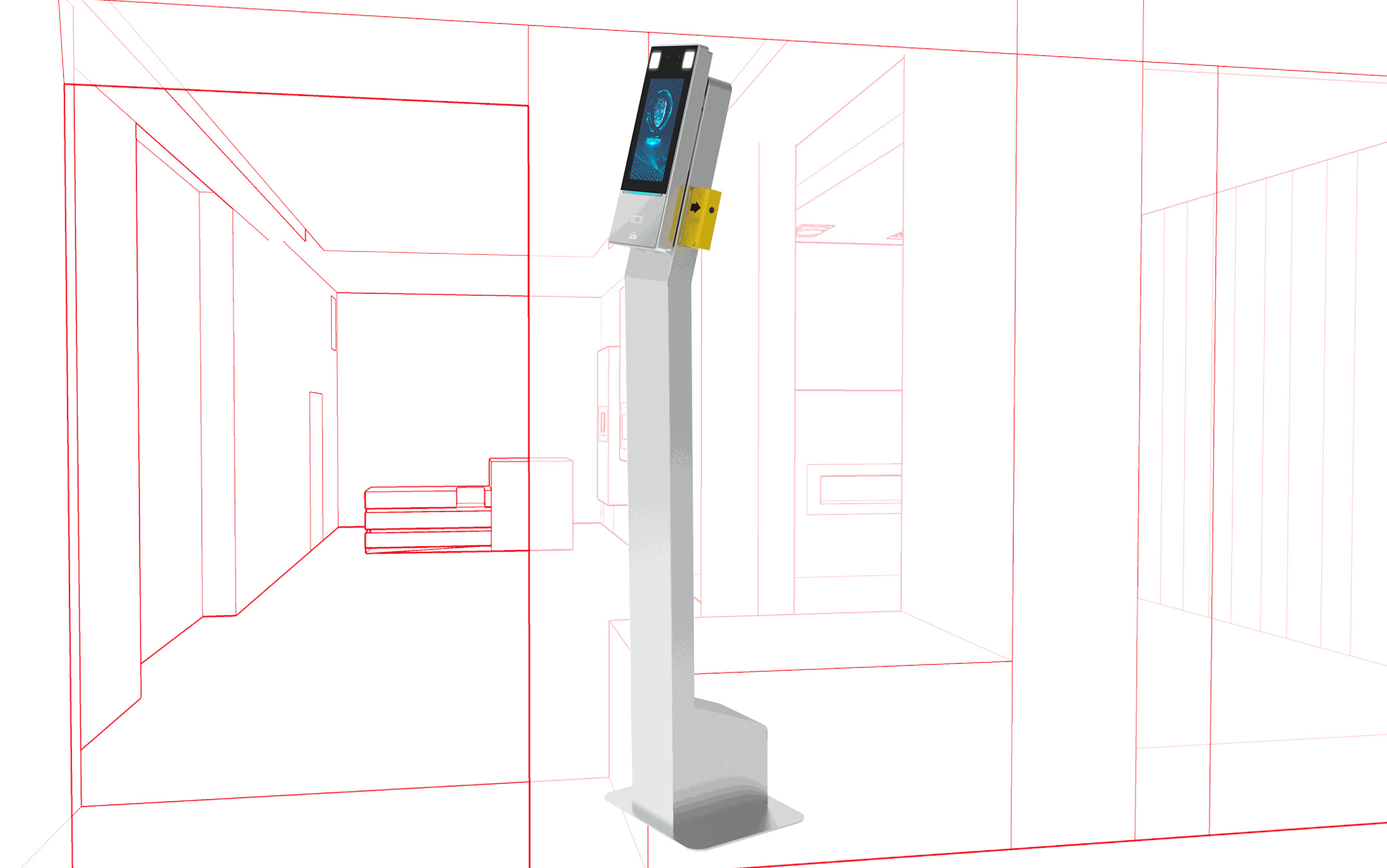 Borne digitale de mesure de température