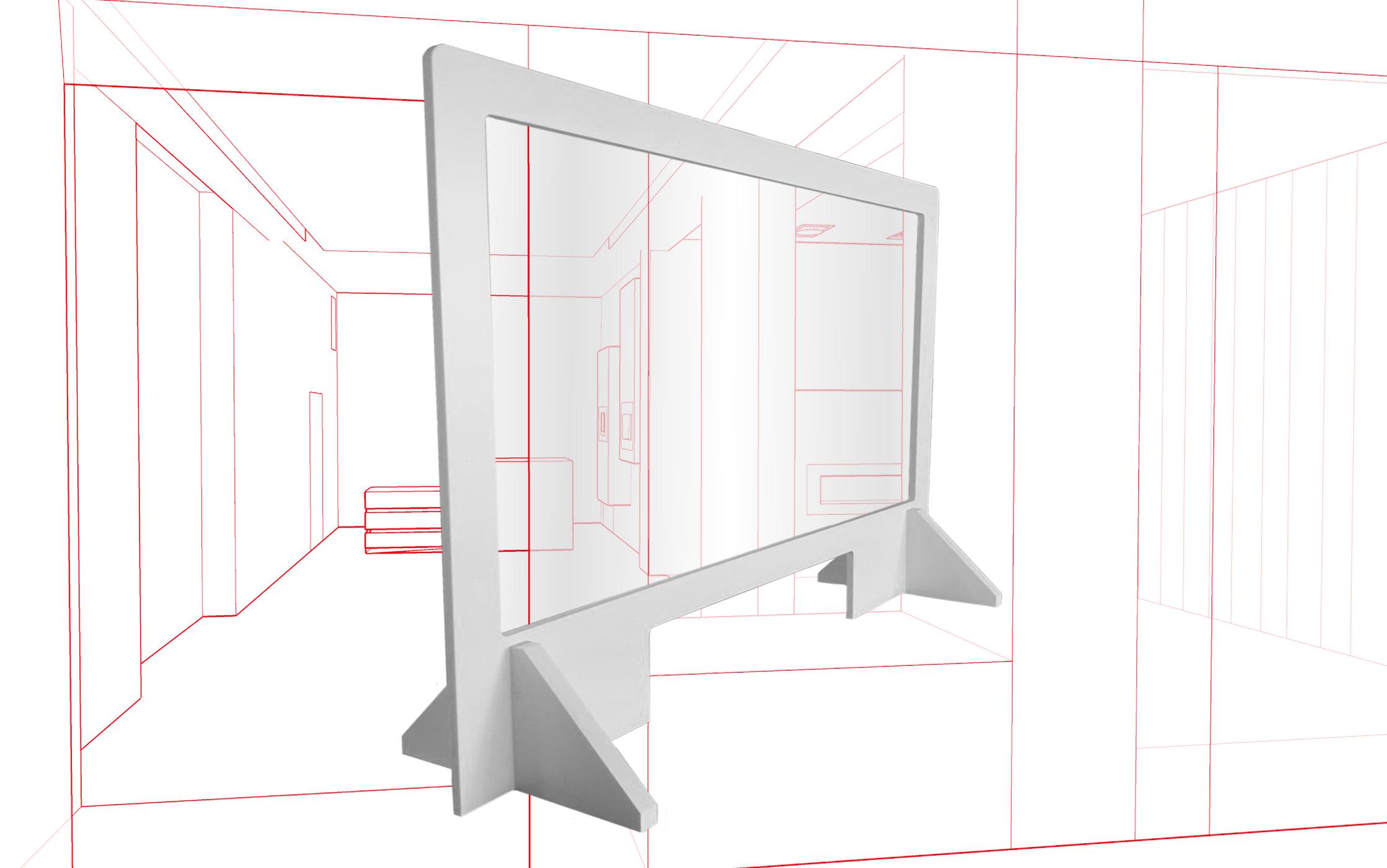 Barrière de protection transparente hygiaphone